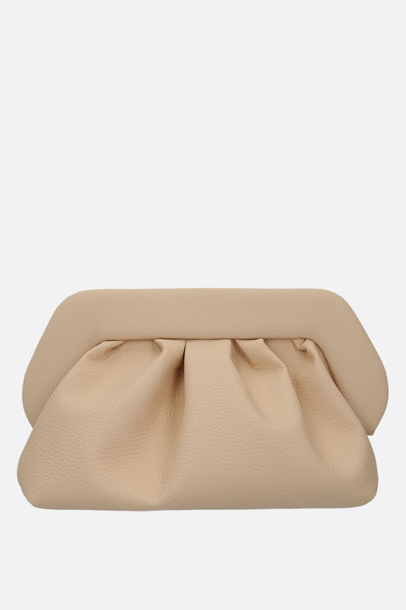 THE MOIRE': grainy faux leather clutch Color Neutral_1