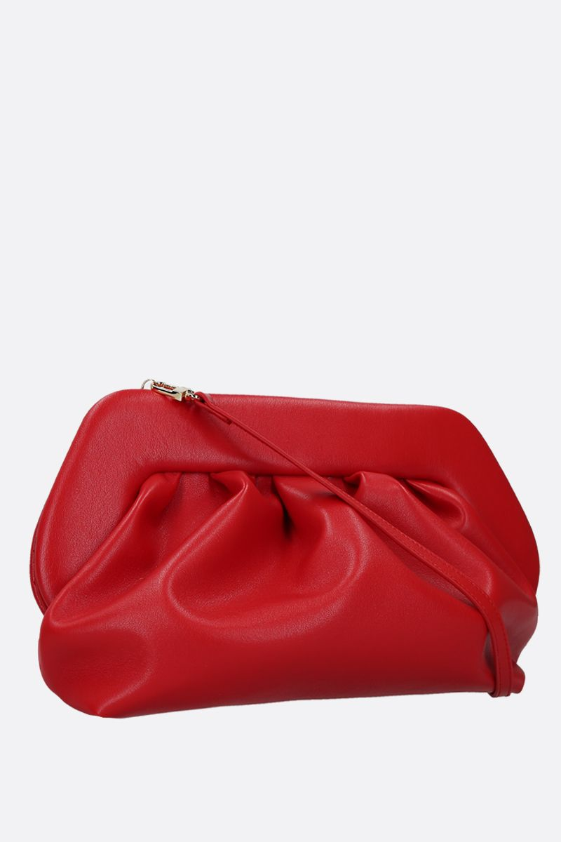 THE MOIRE': smooth faux leather clutch Color Red_2