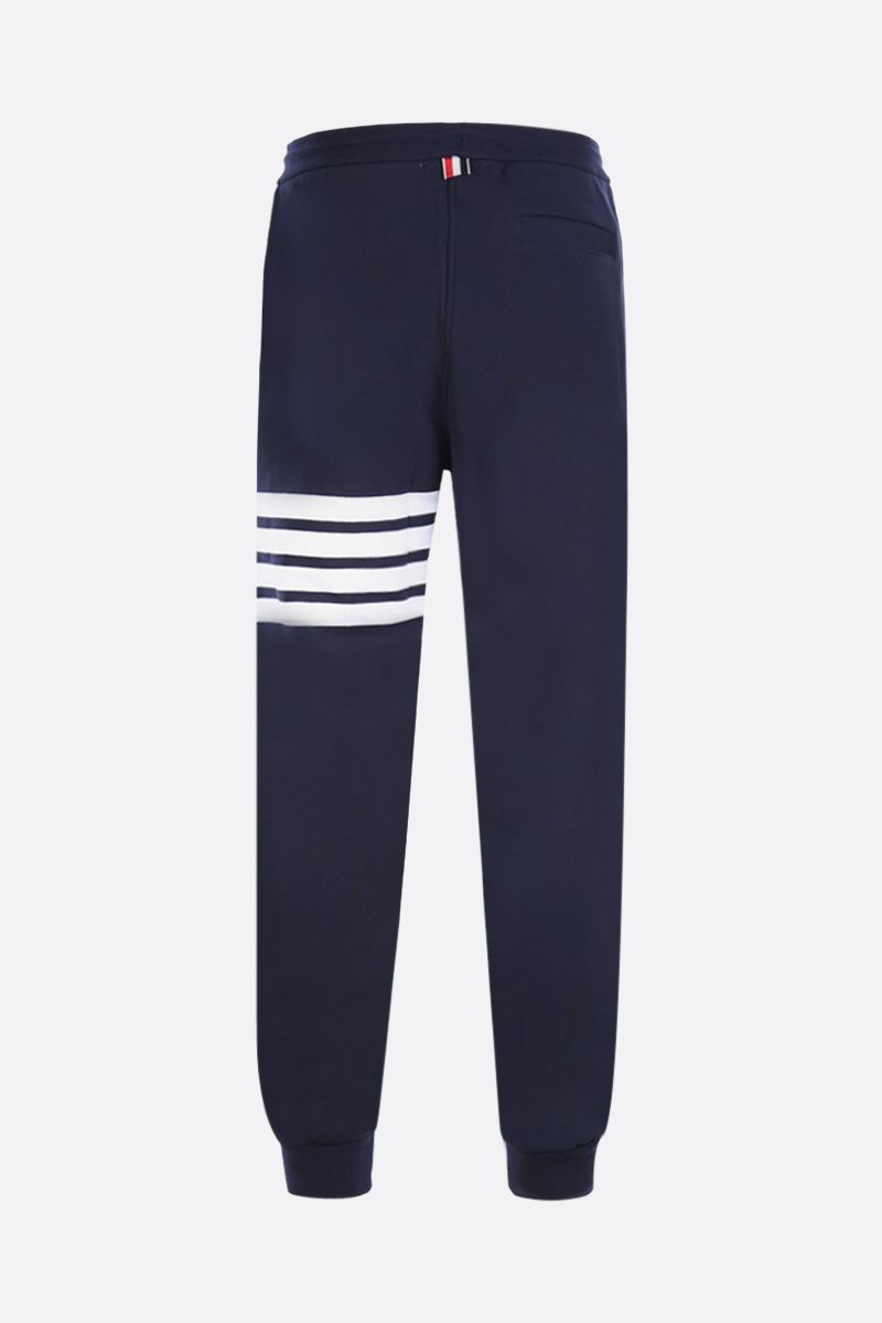 THOM BROWNE: jersey joggers with 4-bar detail Color Blue_2
