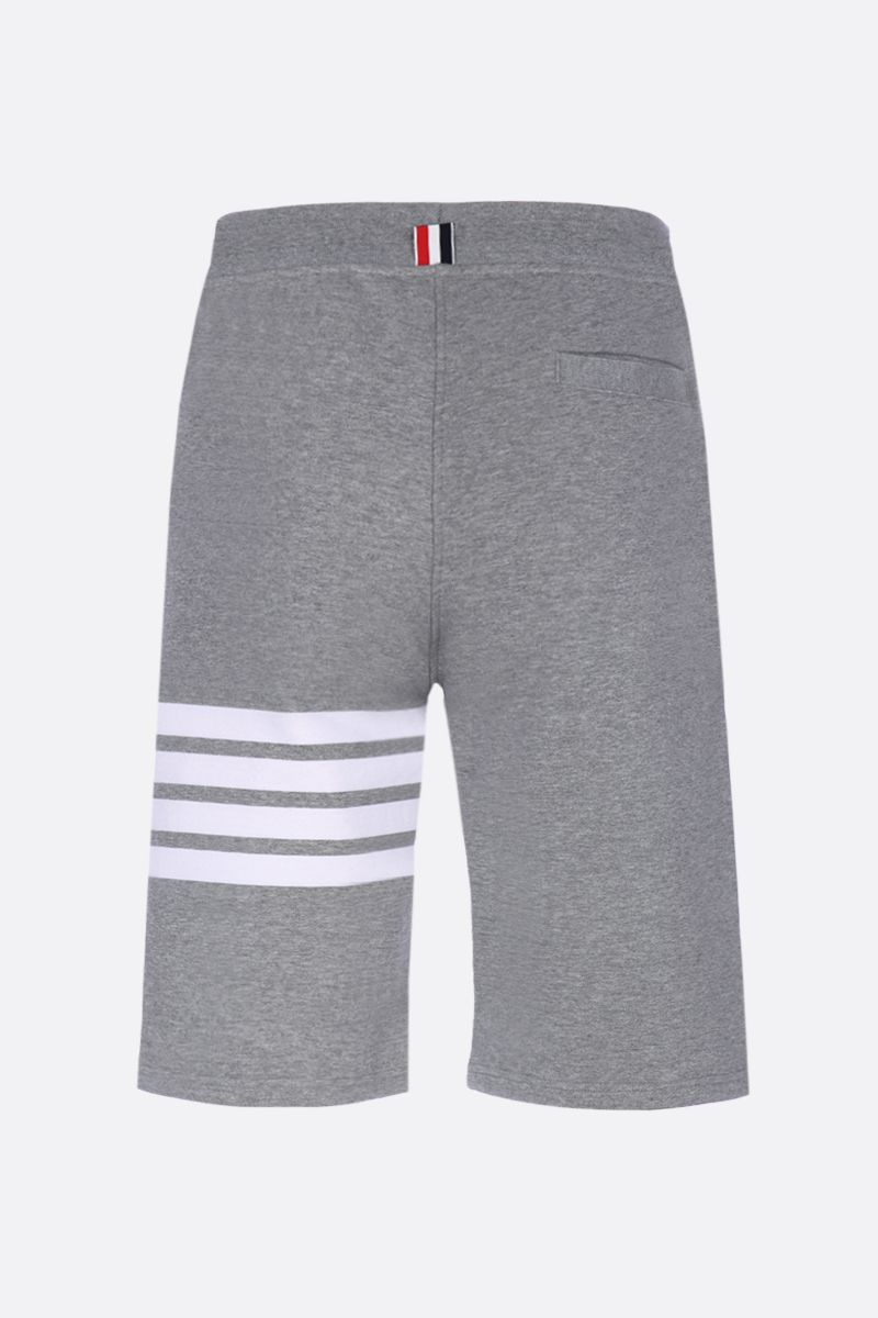 THOM BROWNE: cotton shorts with 4-Bar detail Color Grey_2