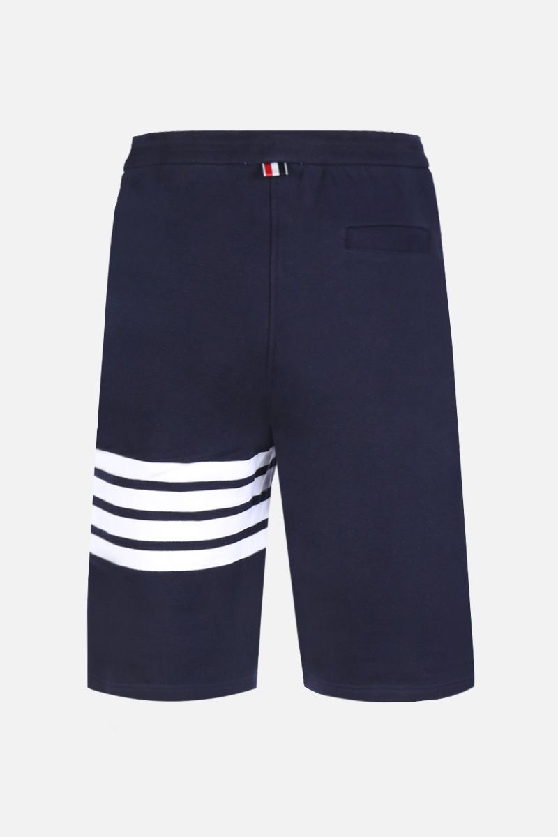 THOM BROWNE: cotton shorts with 4-Bar detail Color Blue_2