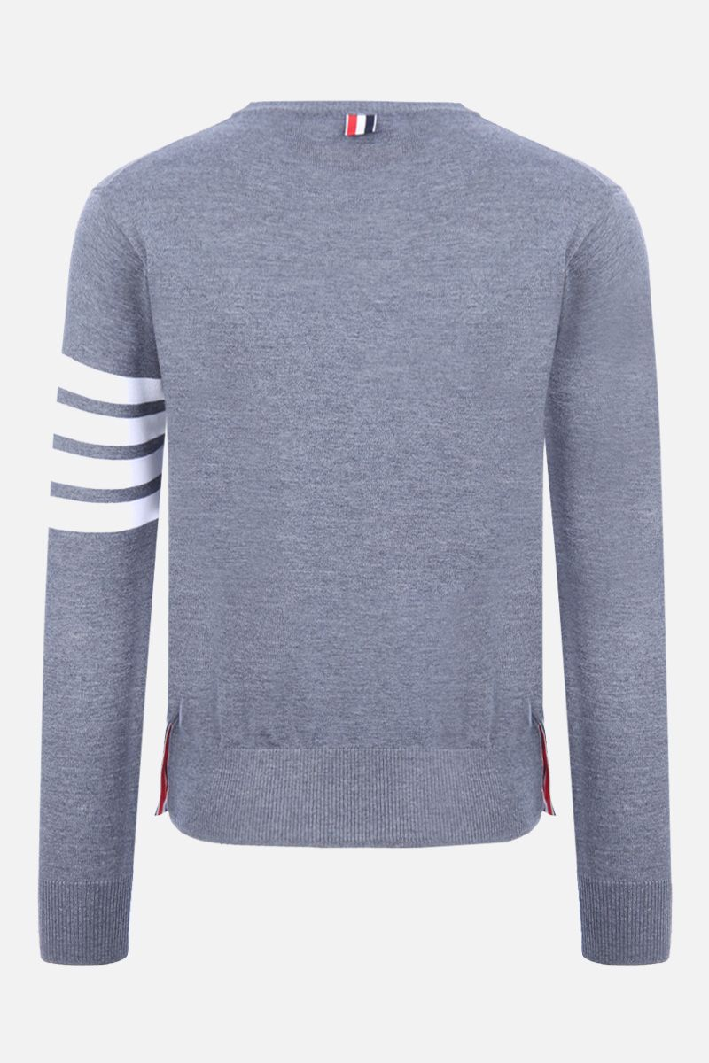 THOM BROWNE: cotton sweatshirt with 4-Bar detail Color Grey_2