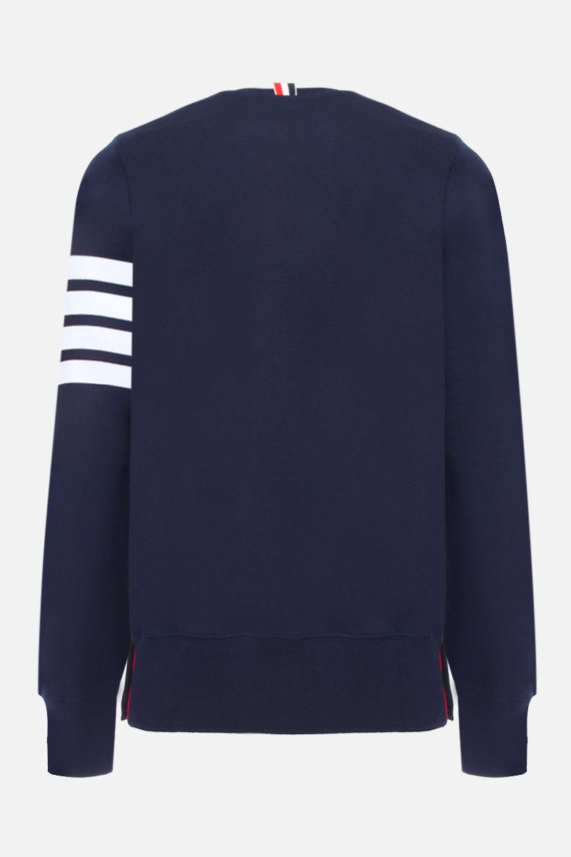 THOM BROWNE: cotton sweatshirt with 4-Bar detail Color Blue_2