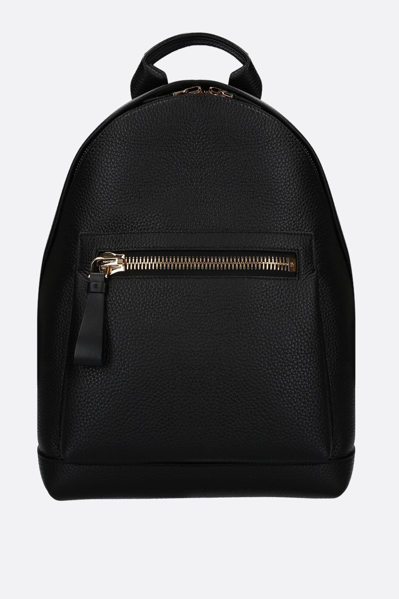 TOM FORD: Buckley medium backpack in grainy leather Color Black_1