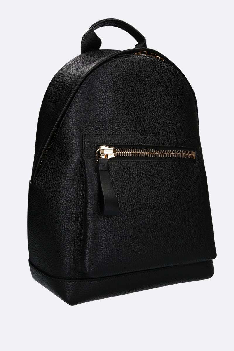 TOM FORD: Buckley medium backpack in grainy leather Color Black_2