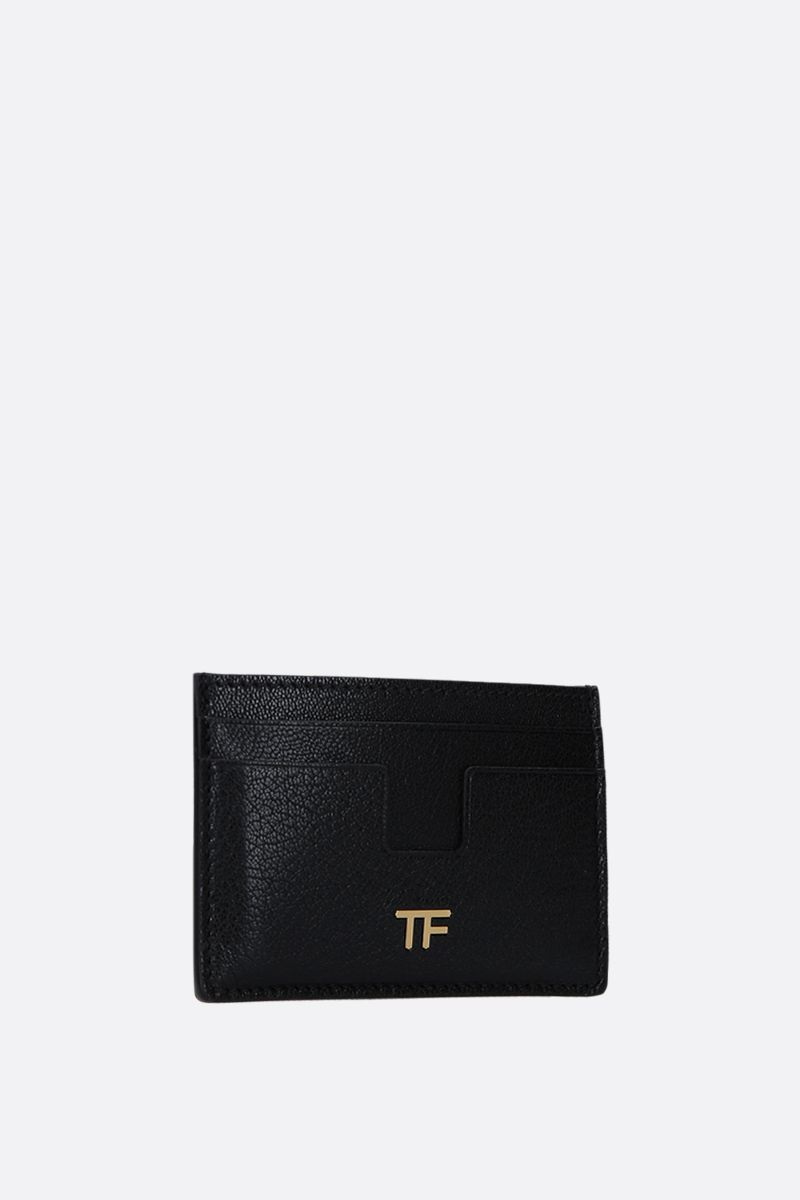 TOM FORD: grainy leather card case Color Black_2