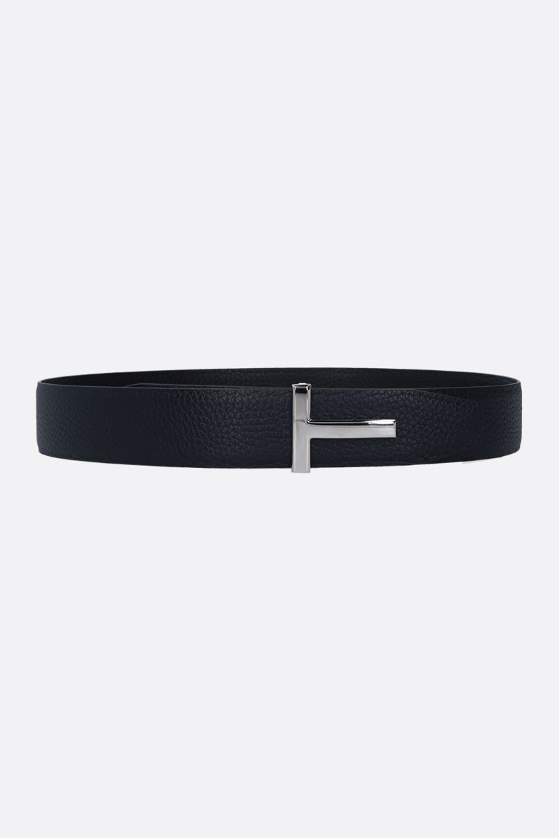 TOM FORD: T-Icon reversible belt in grainy leather_1