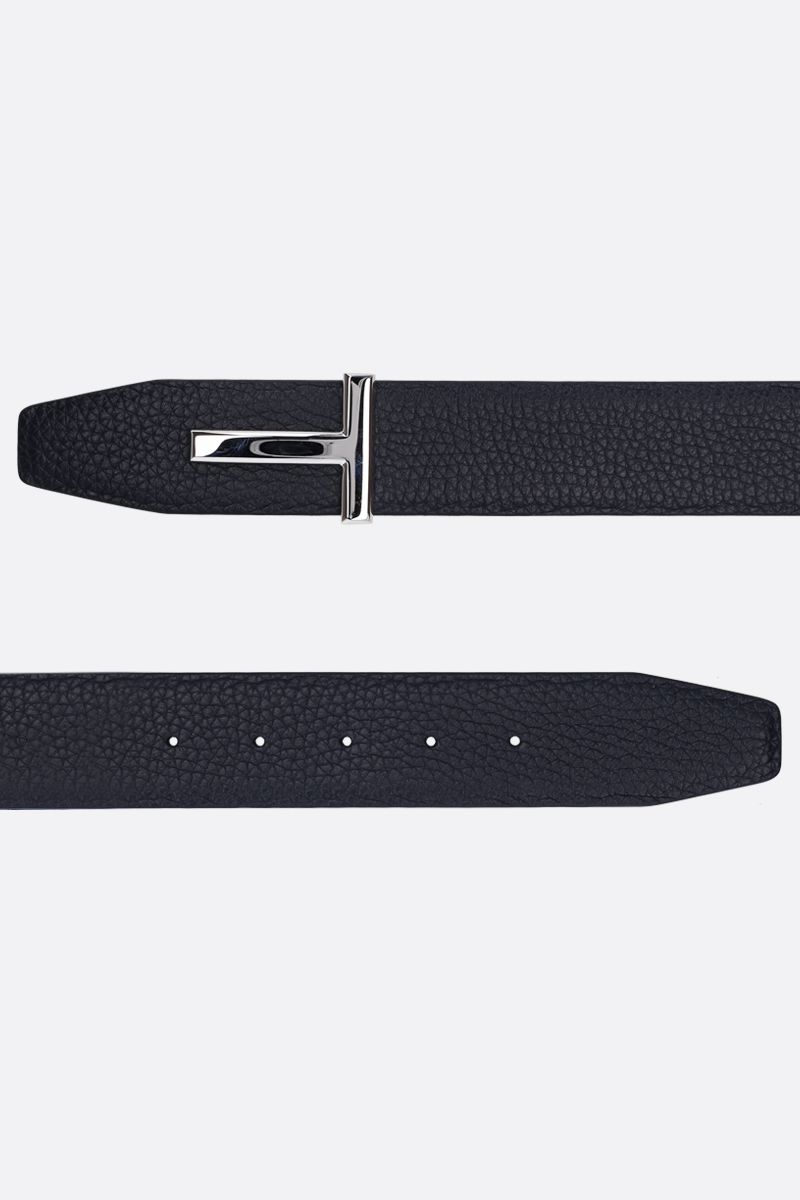 TOM FORD: T-Icon reversible belt in grainy leather_2