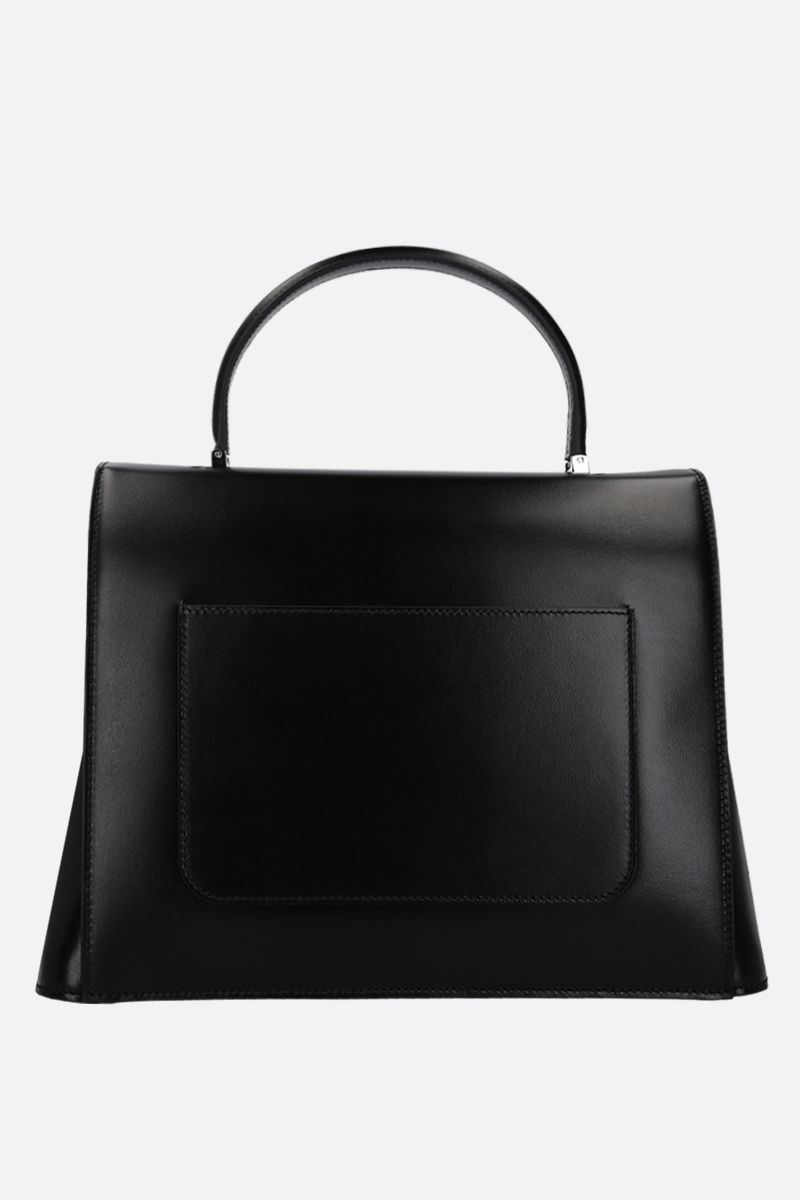 TOM FORD: shiny leather top handle bag Color Black_2