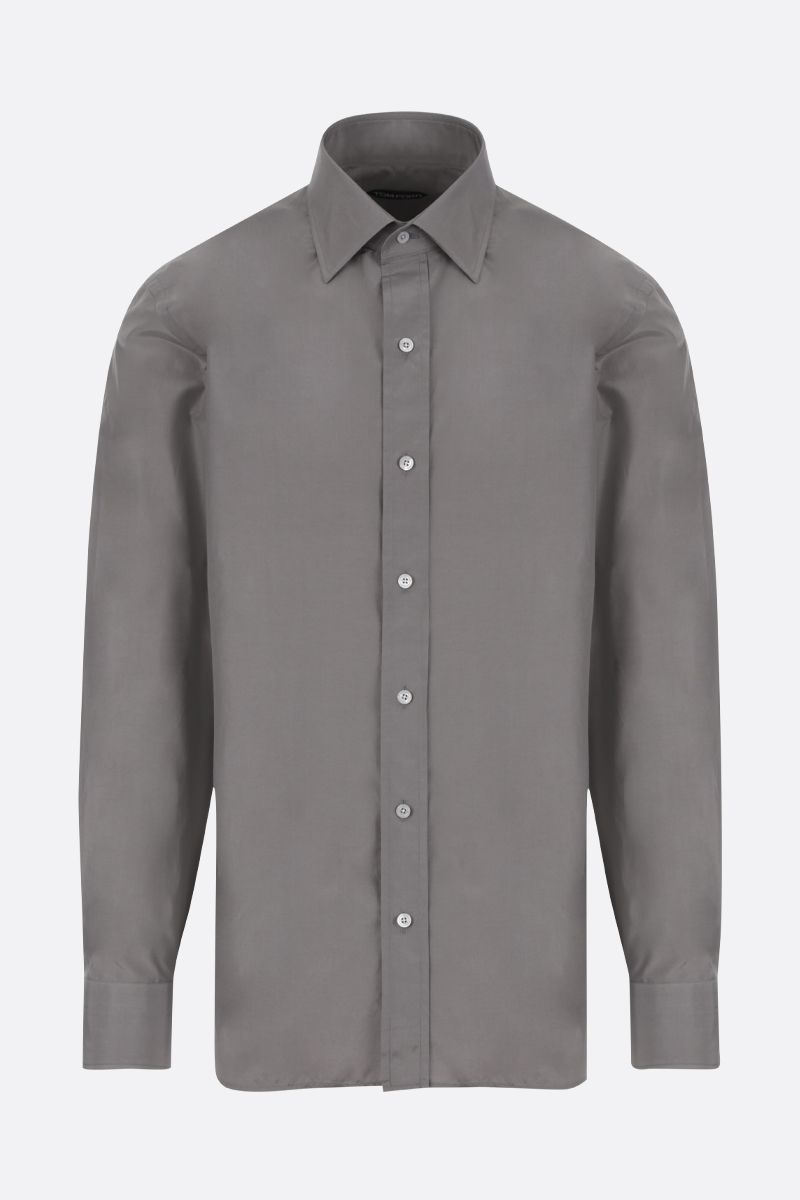 TOM FORD: cotton silk blend shirt Color Grey_1