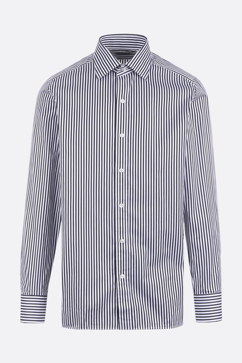 TOM FORD: striped poplin shirt Color Black_1