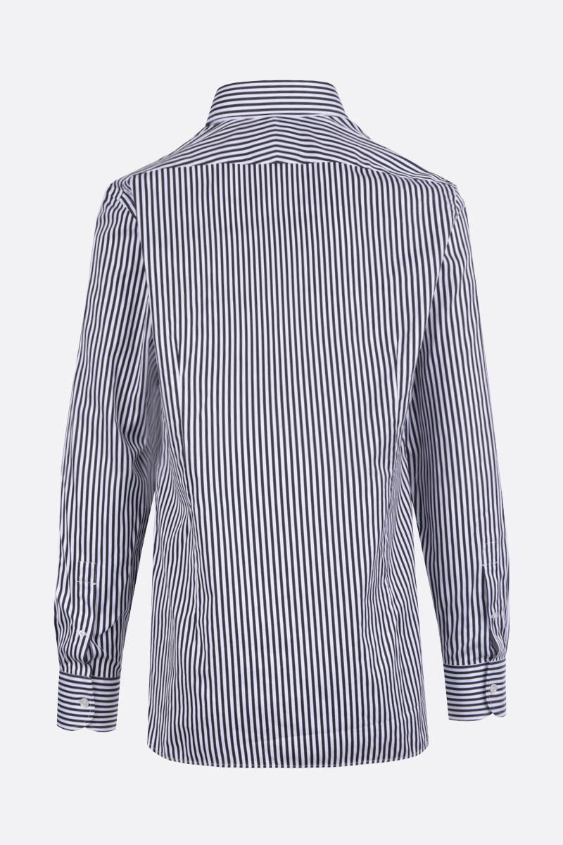 TOM FORD: striped poplin shirt Color Black_2