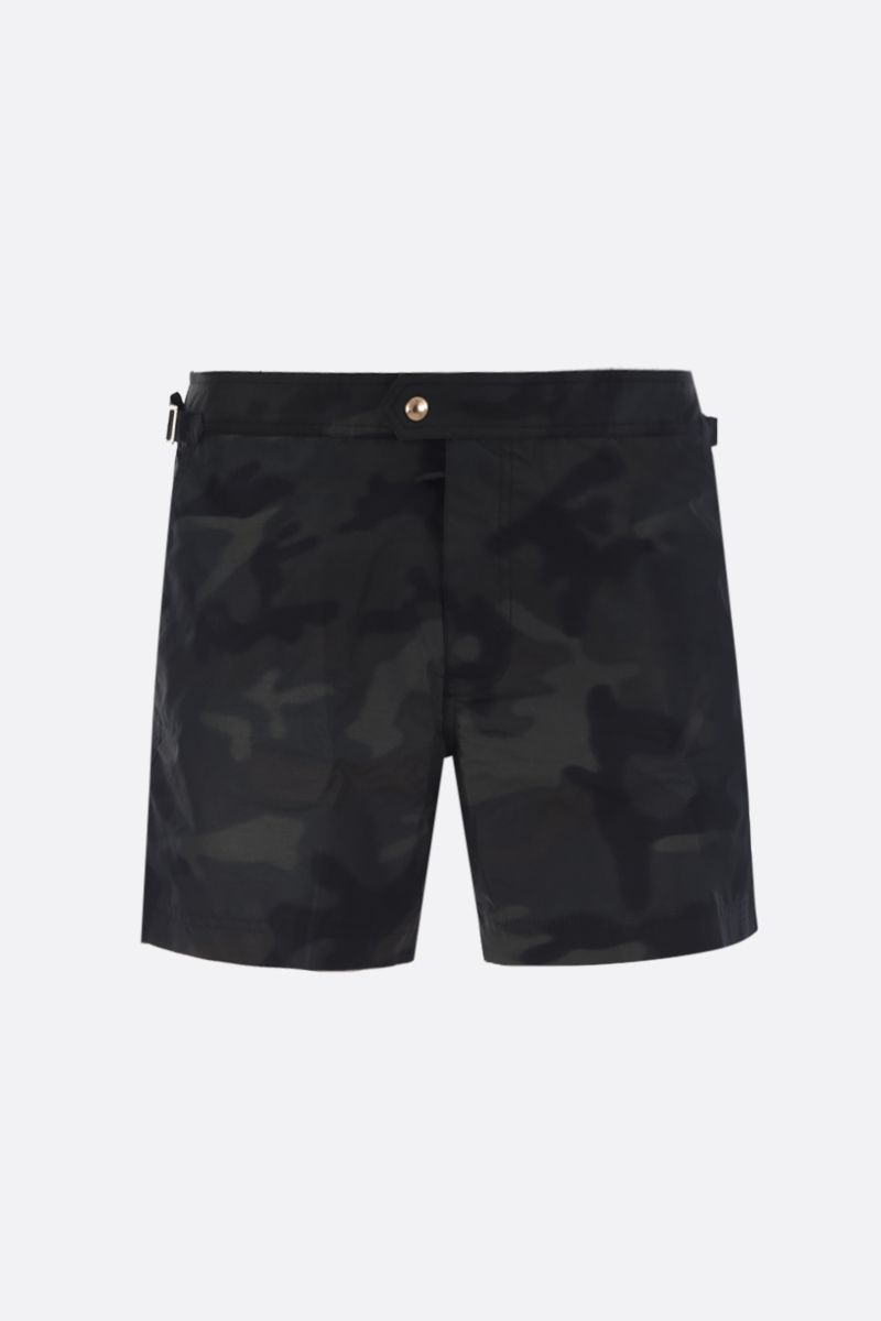 TOM FORD: camouflage print nylon swim shorts Color Multicolor_1