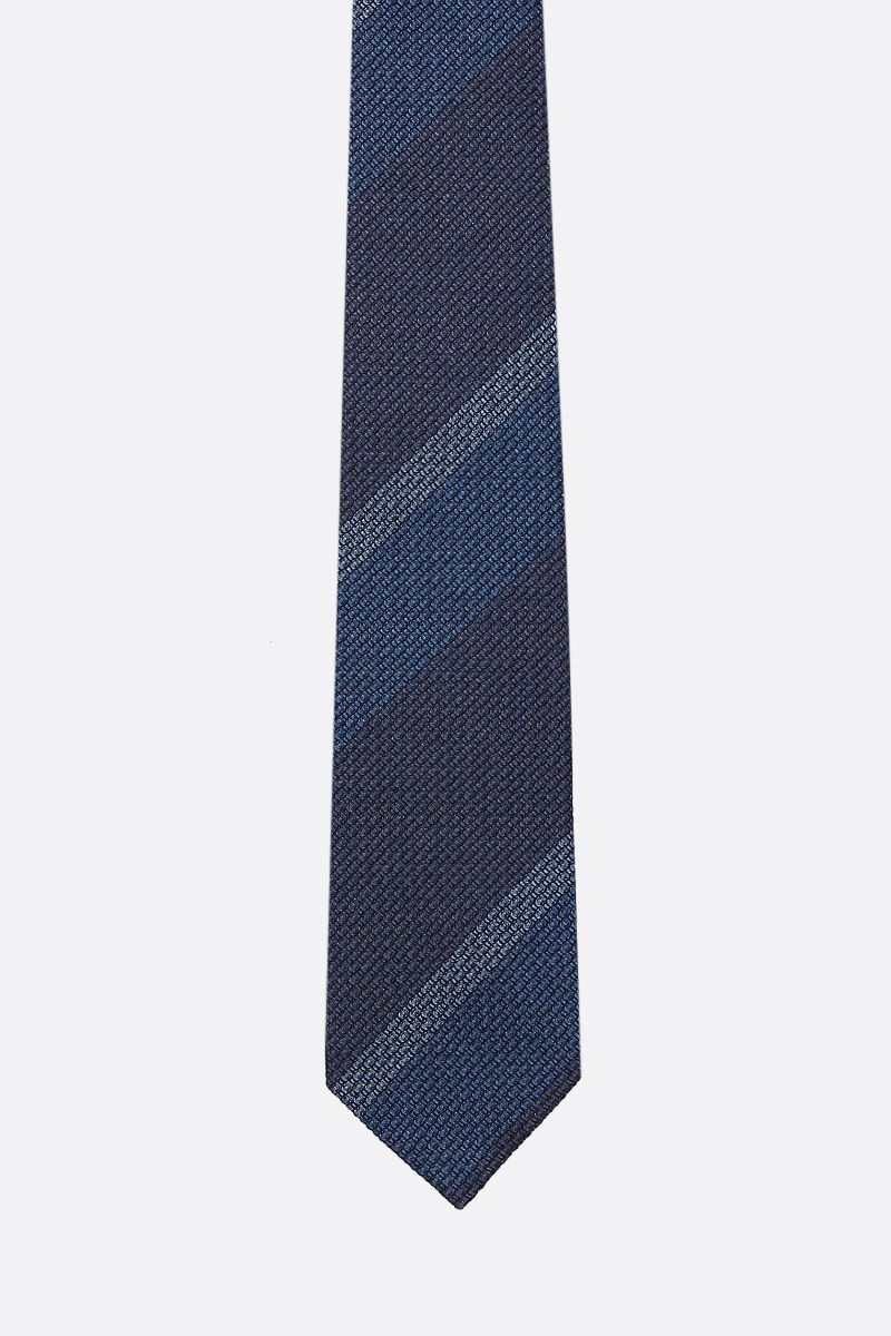 TOM FORD: striped silk tie Color Blue_1
