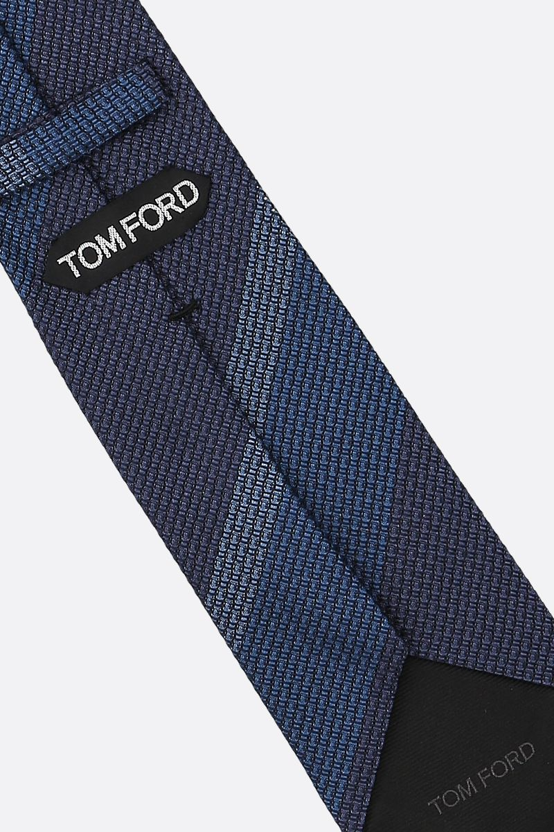 TOM FORD: striped silk tie Color Blue_2