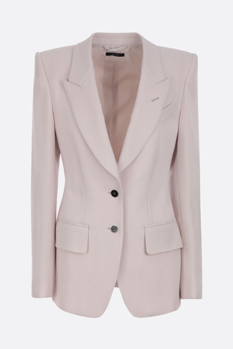TOM FORD: stretch wool single-breasted jacket_1
