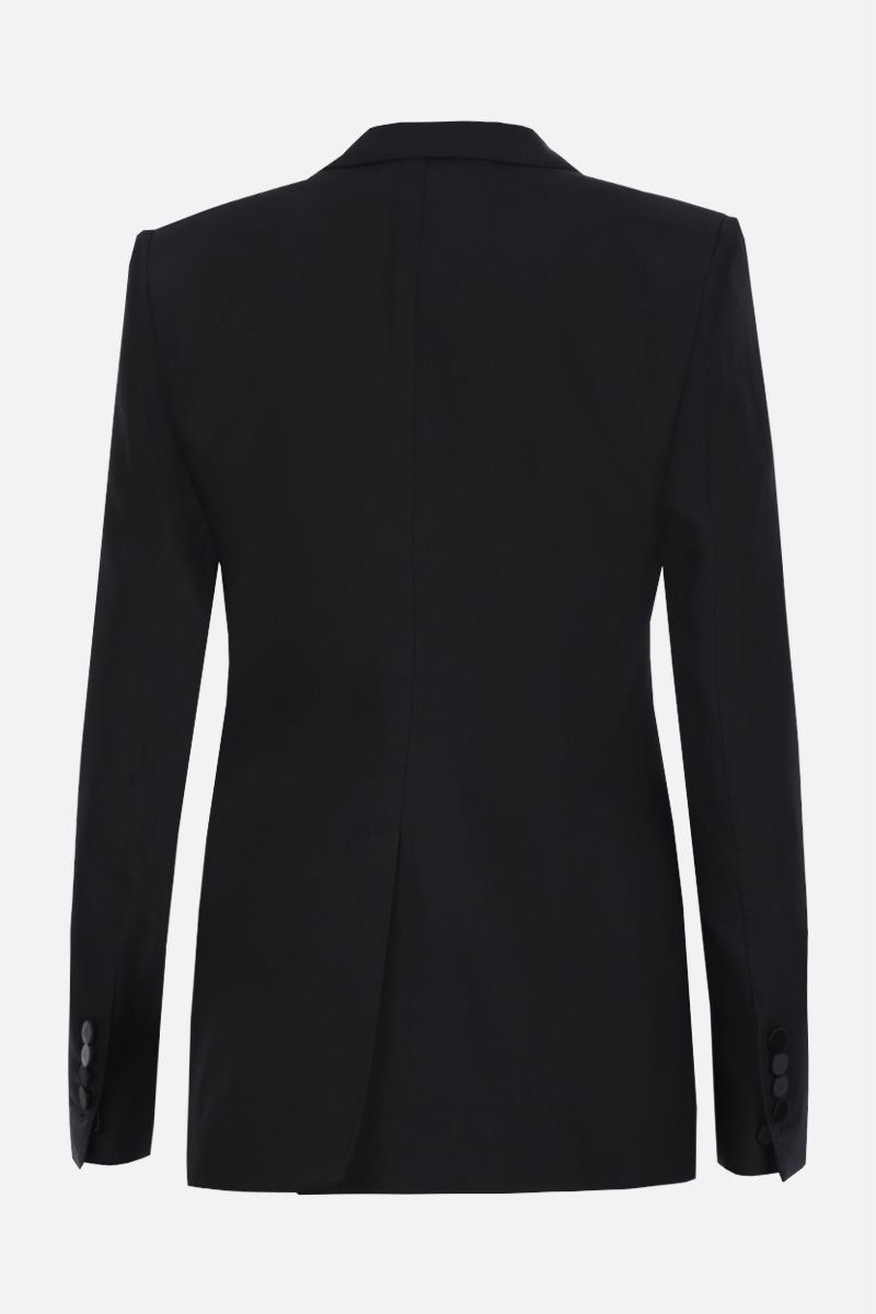 TOM FORD: wool silk blend tuxedo jacket Color Black_2