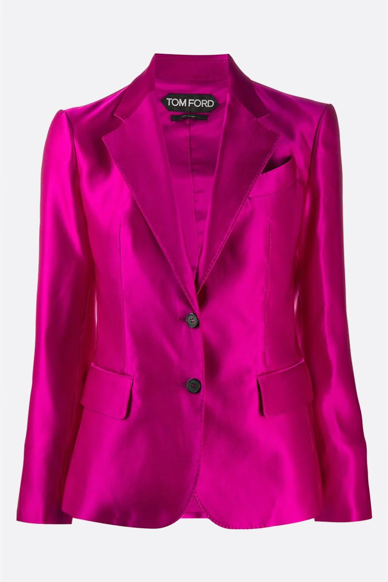 TOM FORD: silk single-brested jacket Color Pink_1