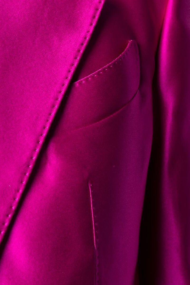 TOM FORD: silk single-brested jacket Color Pink_2
