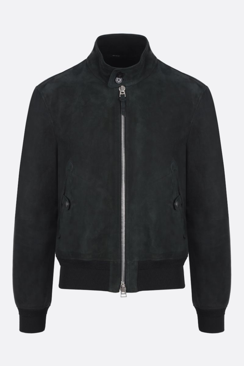 TOM FORD: velvet suede bomber jacket Color Brown_1