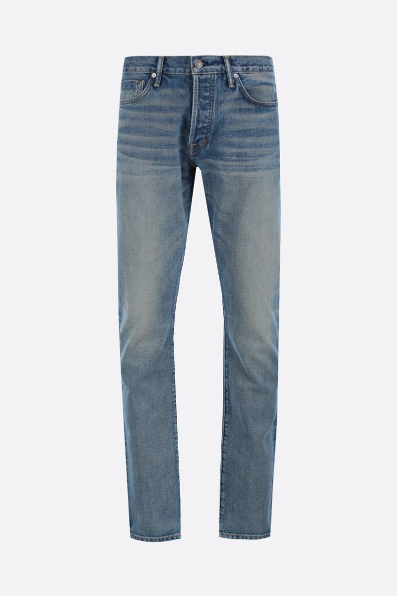 TOM FORD: jeans slim-fit Colore Blu_1