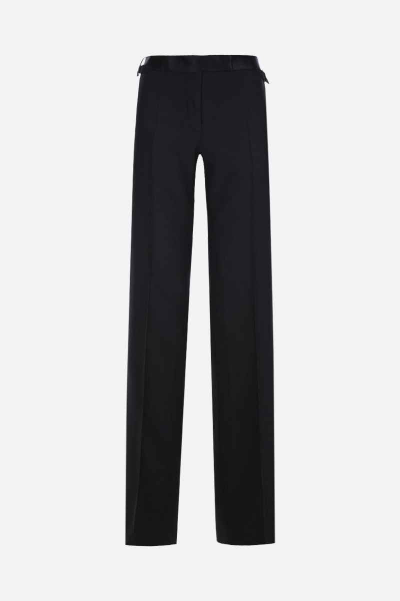 TOM FORD: wool silk blend tuxedo pants Color Black_1