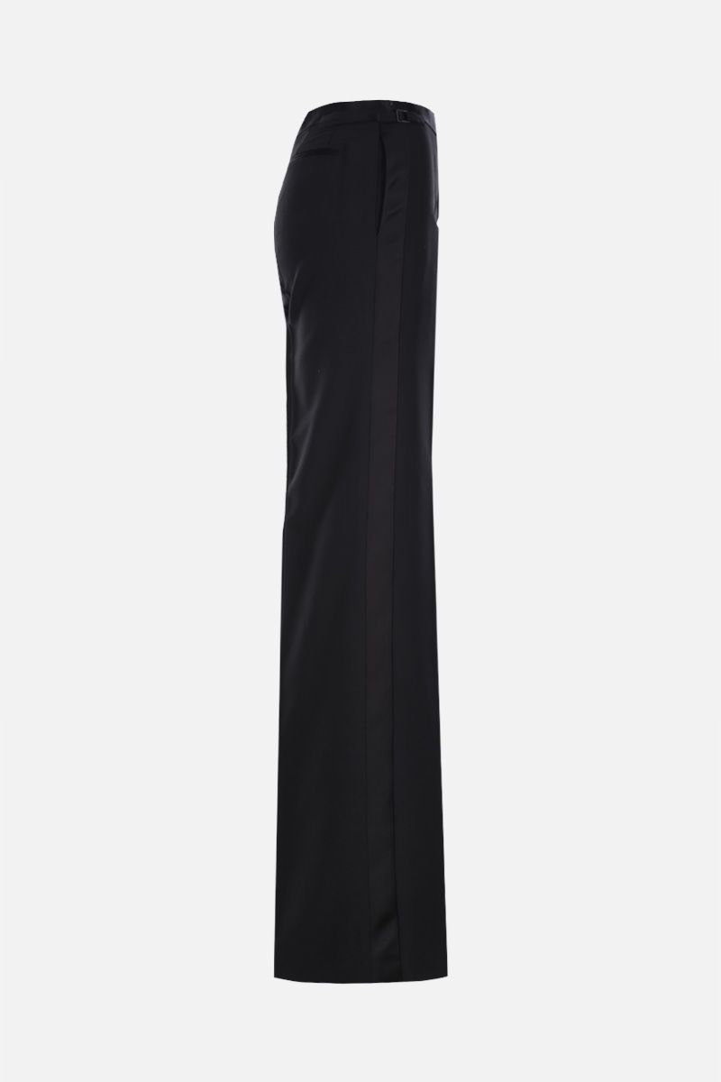 TOM FORD: wool silk blend tuxedo pants Color Black_2