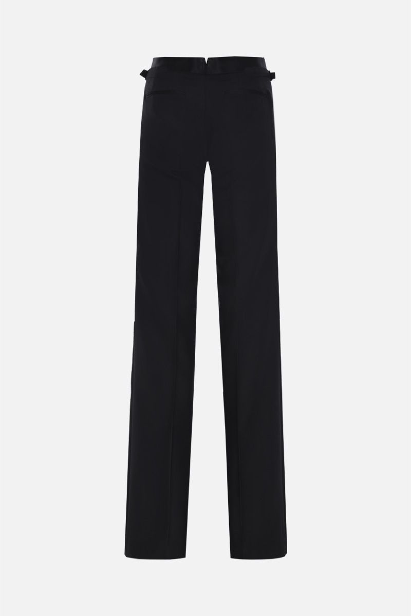 TOM FORD: wool silk blend tuxedo pants Color Black_3