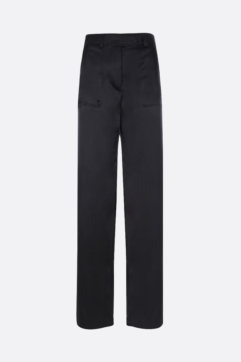 TOM FORD: silk satin wide-leg pants Color Black_1