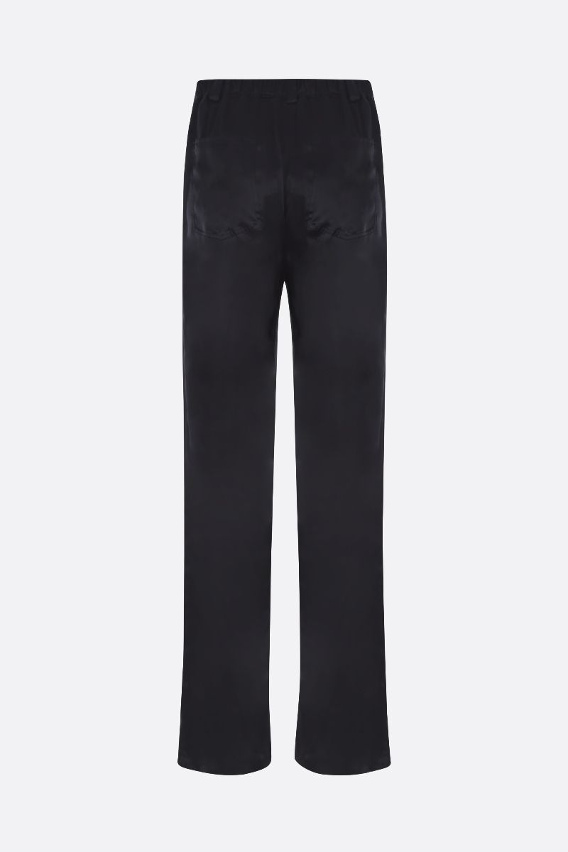 TOM FORD: silk satin wide-leg pants Color Black_2