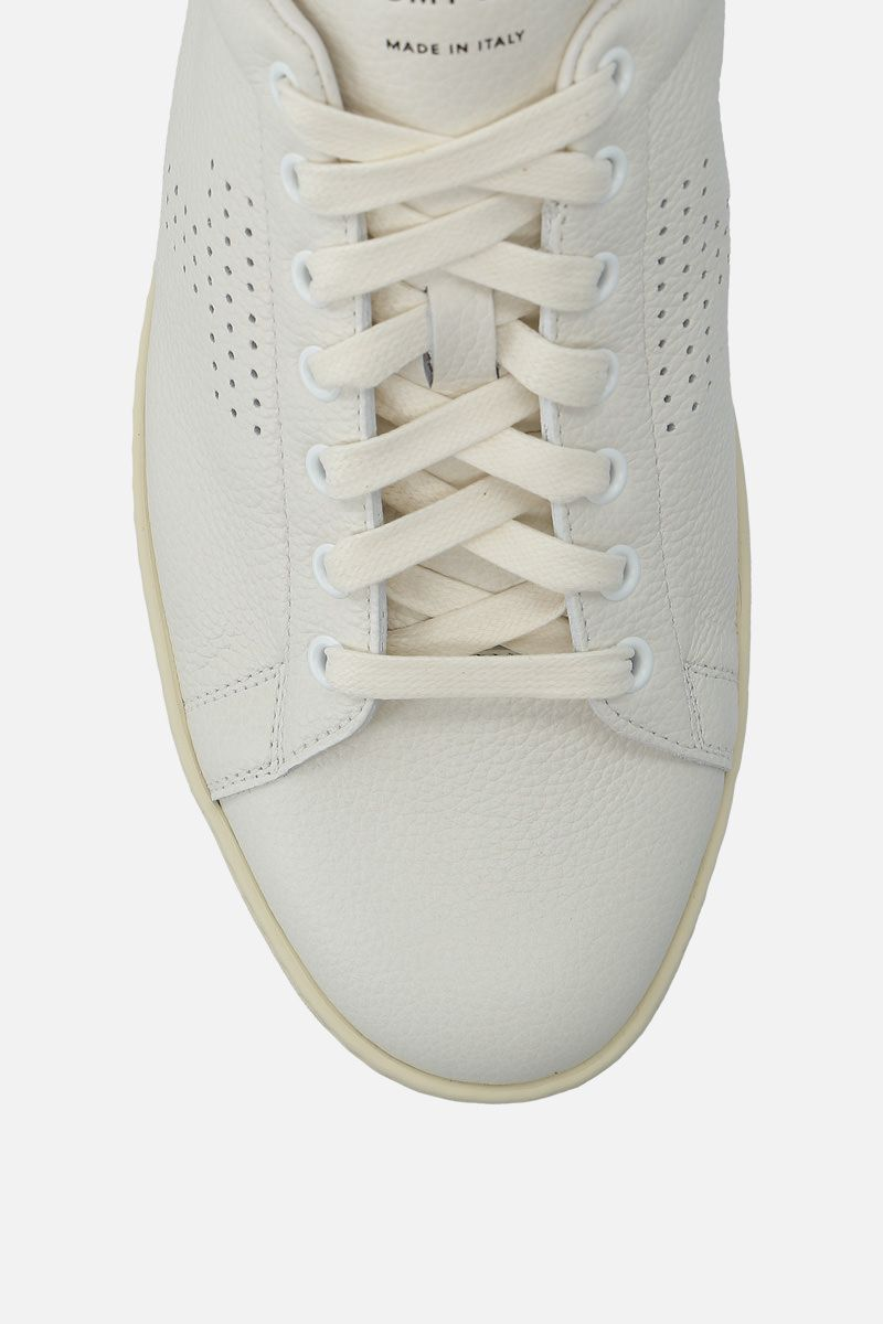 TOM FORD: Warwick sneakers in grainy leather Color White_5