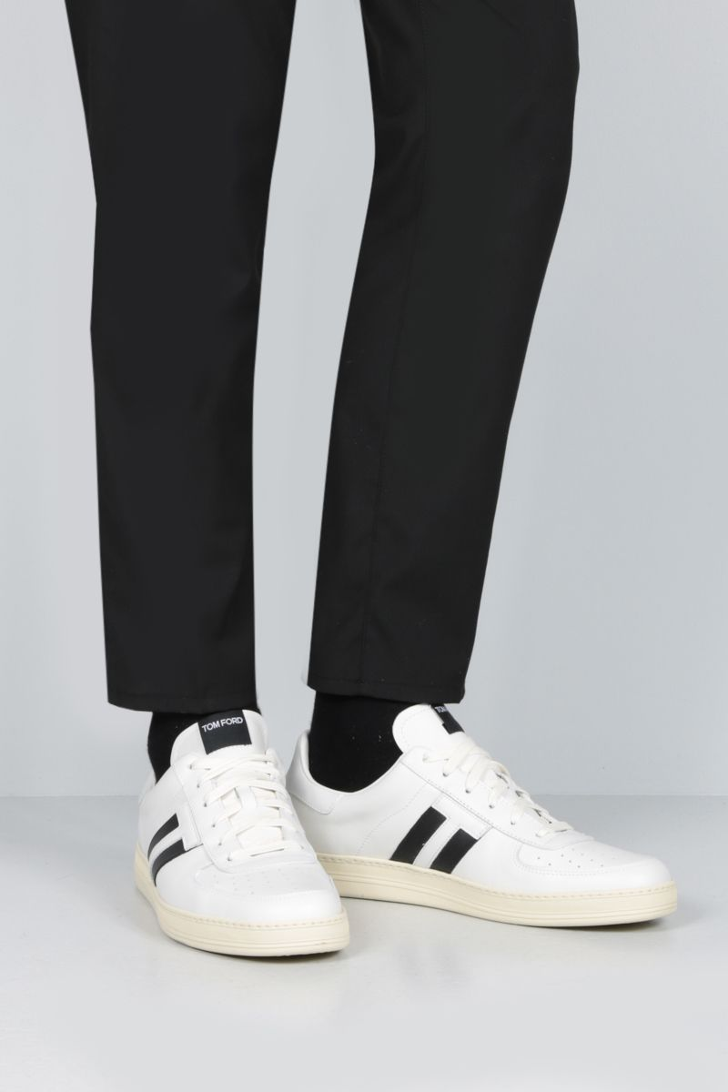 TOM FORD: Radcliffe sneakers in smooth leather Color White_2