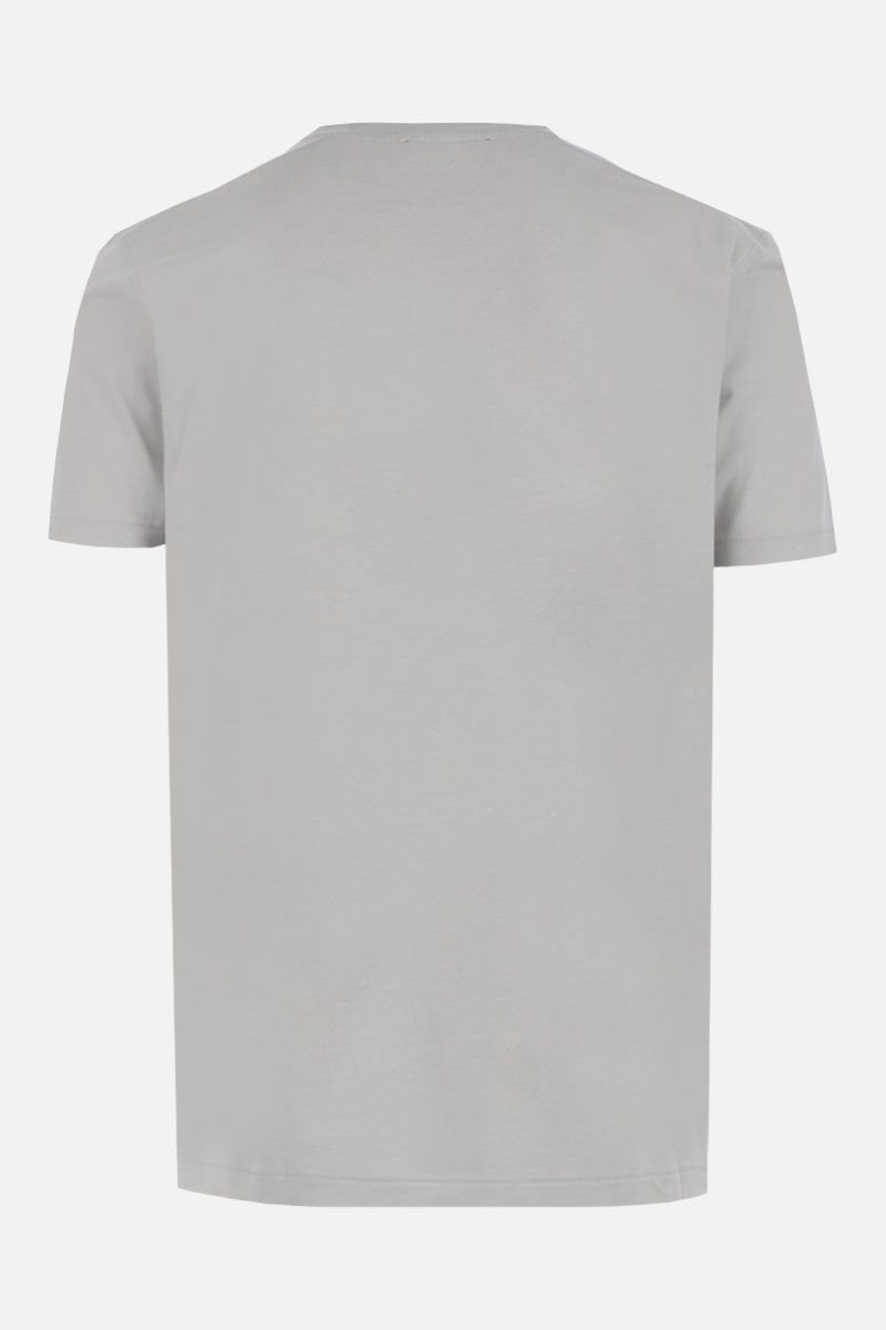 TOM FORD: t-shirt in misto cotone ricamo TF Colore Verde_2