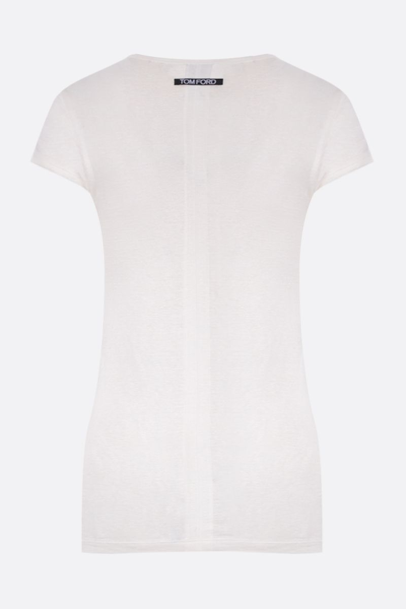 TOM FORD: stretch linen t-shirt Color Neutral_2