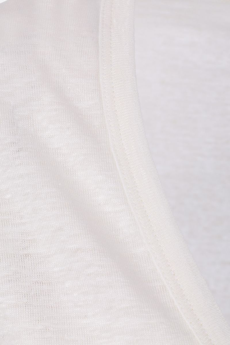 TOM FORD: stretch linen t-shirt Color Neutral_3