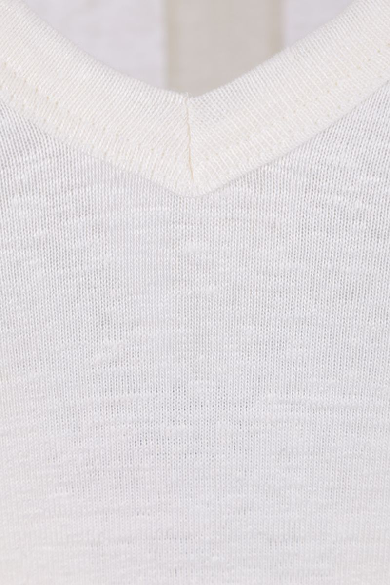 TOM FORD: stretch linen t-shirt Color Neutral_4