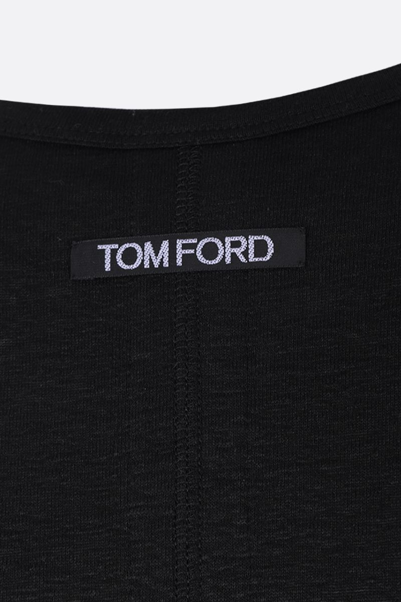 TOM FORD: stretch linen t-shirt Color Black_3