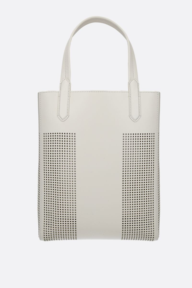TOM FORD: TF tote bag in smooth and perforated leather Color Neutral_2