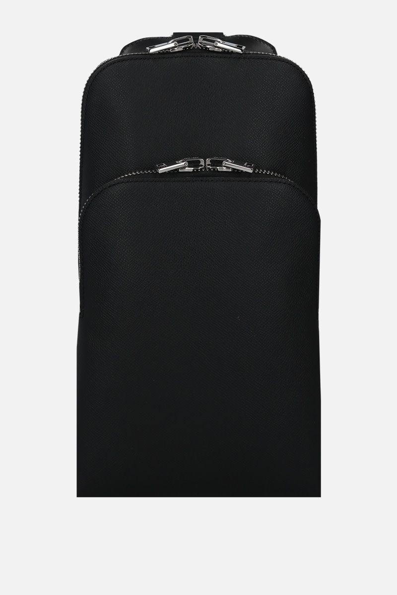 TOM FORD: grainy leather one-shoulder backpack Color Black_1
