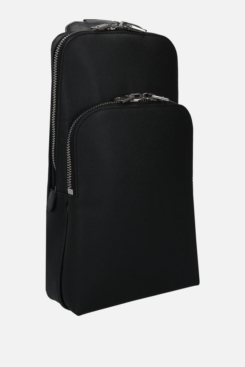 TOM FORD: grainy leather one-shoulder backpack Color Black_2