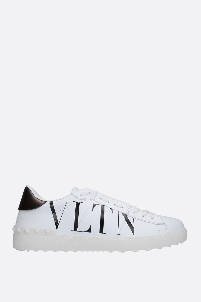 VALENTINO GARAVANI: Open VLTN sneakers in smooth leather Color White_1