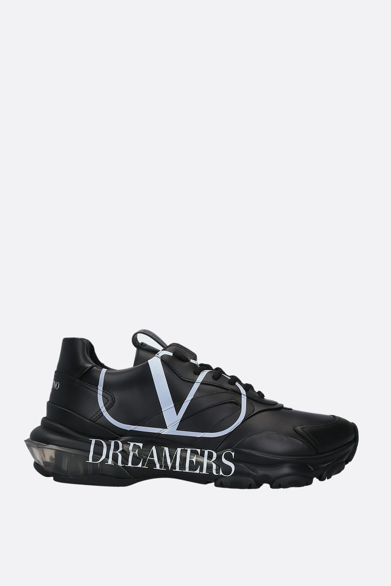 VALENTINO GARAVANI: Bounce VLOGO Dreamers sneakers in smooth leather Color Black_1