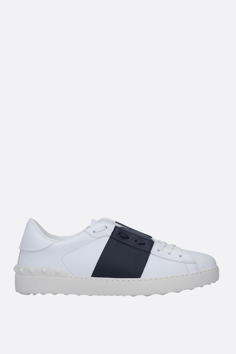 VALENTINO GARAVANI: Open sneakers in smooth leather Color White_1
