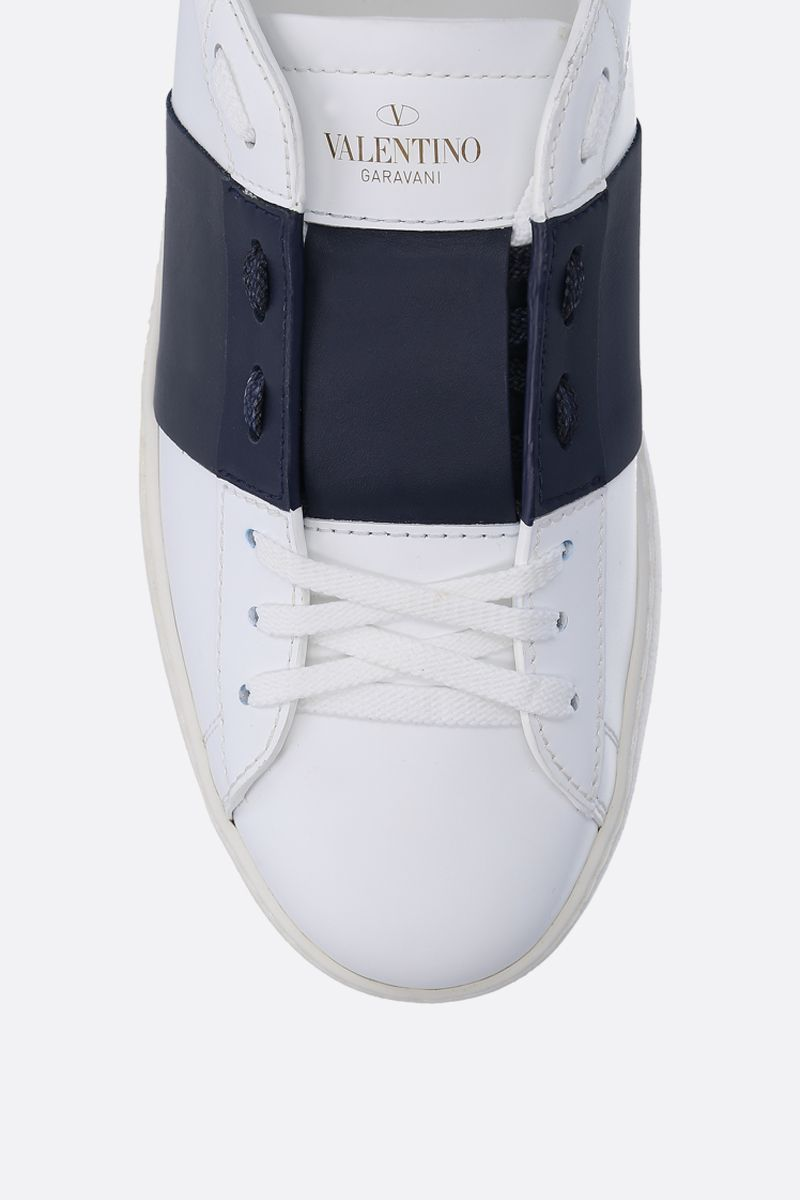 VALENTINO GARAVANI: Open sneakers in smooth leather Color White_4