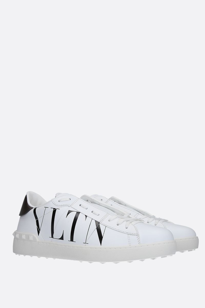 VALENTINO GARAVANI: Open VLTN sneakers in smooth leather Color White_2