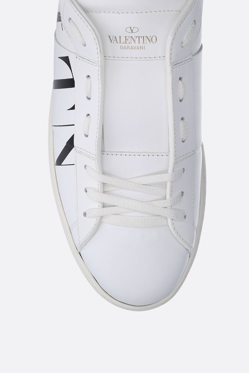 VALENTINO GARAVANI: Open VLTN sneakers in smooth leather Color White_4