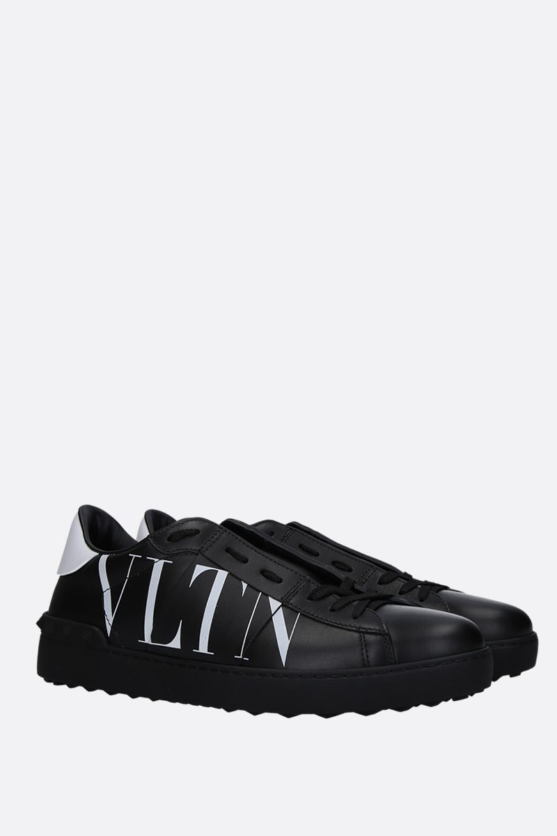 VALENTINO GARAVANI: Open VLTN sneakers in smooth leather Color Black_2