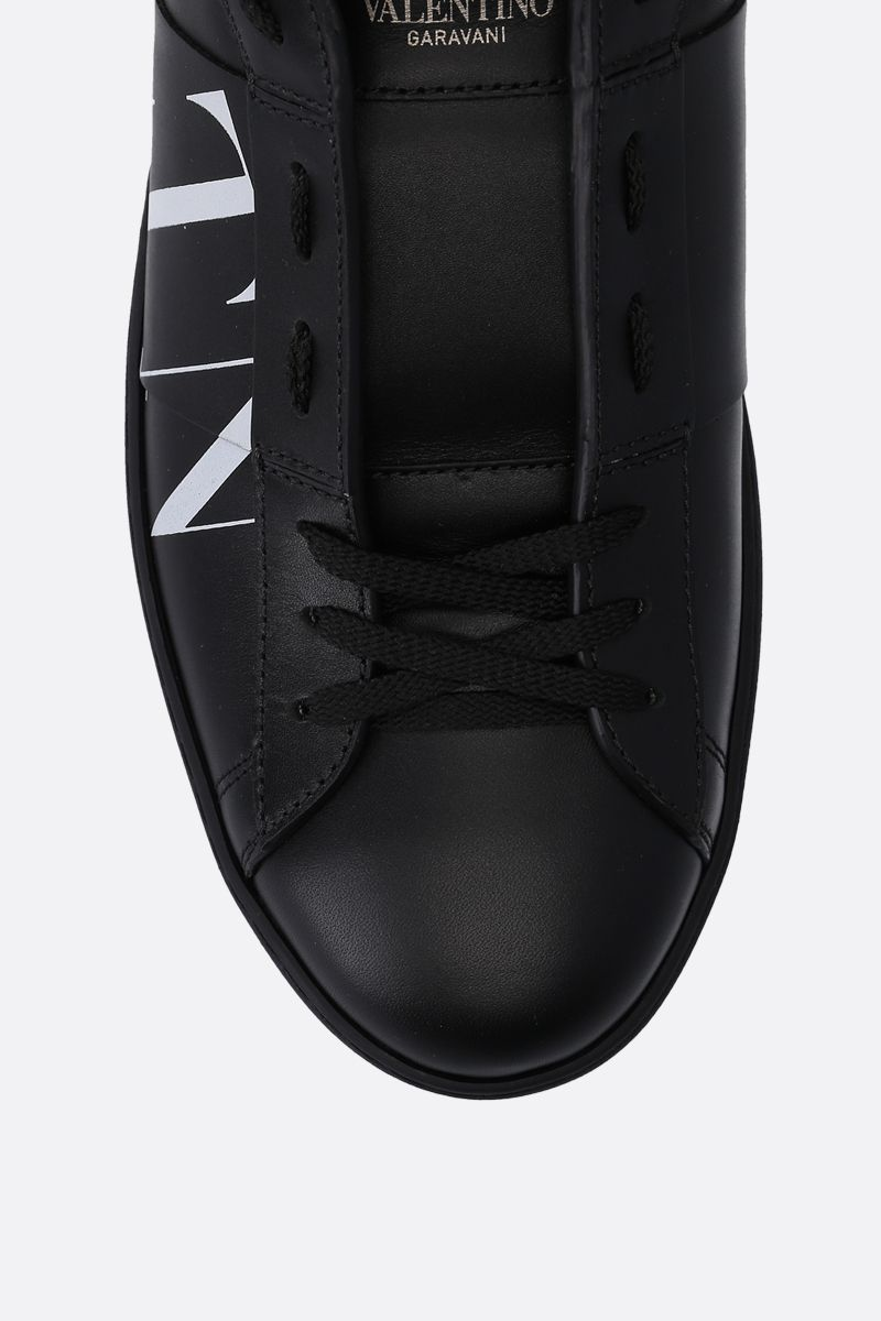 VALENTINO GARAVANI: Open VLTN sneakers in smooth leather Color Black_4