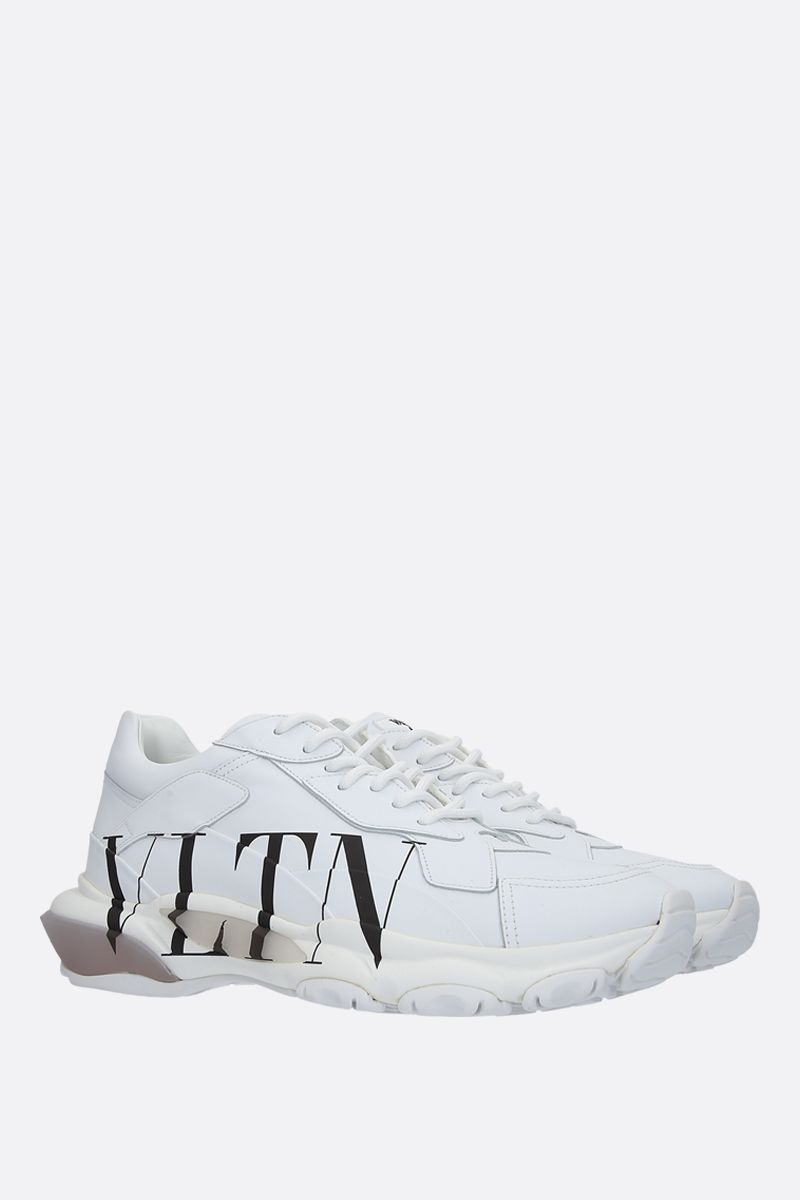 VALENTINO GARAVANI: Bounce VLTN sneakers in smooth leather Color White_2
