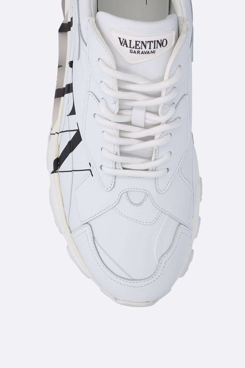VALENTINO GARAVANI: Bounce VLTN sneakers in smooth leather Color White_4